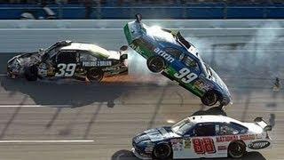 getlinkyoutube.com-Top 10 NASCAR Crashes 2016