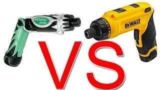 getlinkyoutube.com-Review DeWalt DCF680 VS Hitachi DB3DL Cordless Screwdrivers