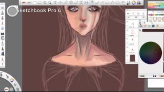getlinkyoutube.com-무테 강좌 _ 그림방송 _ Speed Paint in Sketchbook Pro 6