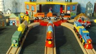getlinkyoutube.com-Video For Children Toy TRAINS New Trains Red Green Blue Orange For Kids Kiddies Toddlers Videos