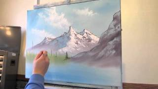 getlinkyoutube.com-Mountain Scene Pt 2 Wet on Wet Painting Techique