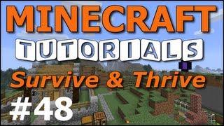 getlinkyoutube.com-Minecraft Tutorials - E48 Dog Houses (Survive and Thrive II)