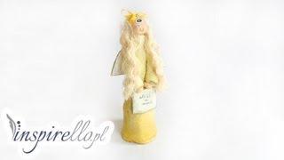 getlinkyoutube.com-Masa solna - jak zrobić aniołka z masy solnej (duży, stojący)