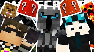 YOUTUBER BLOCKS MOD BATTLE SKYWARS CHALLENGE - Minecrafter Mod (Lucky Blocks)