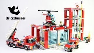 getlinkyoutube.com-Lego City 60004 Fire Station - Lego Speed Build