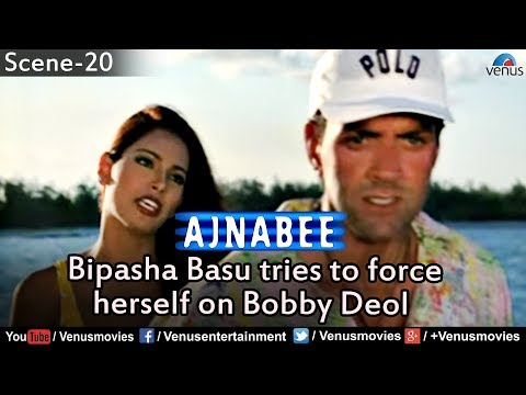 Bipasha Basu Tries to Force herself on Bobby Deol (Ajnabee)