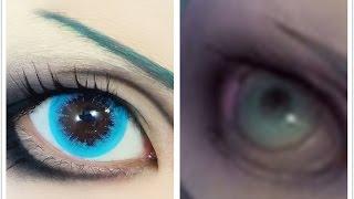 getlinkyoutube.com-Tutorial : Anime Eye Makeup 77 • Hatsune Miku Cyber Goth