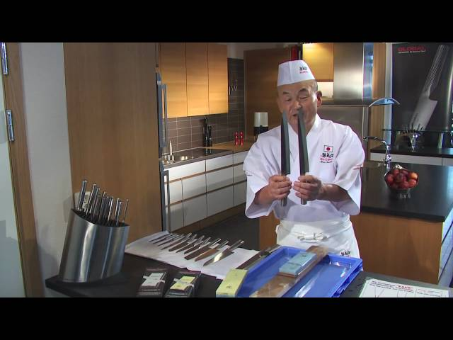 Mr. Global lär dig slipa dina japanska knivar -Johan Sjögren