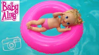 getlinkyoutube.com-بيبي آلايف ألعاب بنات في المسبح مغامرة شيقة ! Baby Alive pool visit