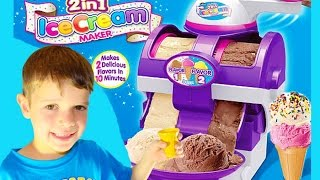 getlinkyoutube.com-Ice Cream Maker TOY FAIL The Real Two in One Ice Cream Maker Cra-Z-Art Video