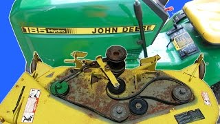 getlinkyoutube.com-HOW TO MAINTAIN A JOHN DEERE LAWN MOWER DECK REPLACE BLADES PULLEYS BELTS