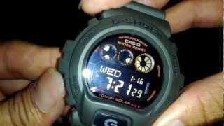 getlinkyoutube.com-[HD] Casio G-Shock solar military unboxing G-6900KG-3DR