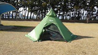 getlinkyoutube.com-2015年 初めてのソロキャンプ Luxe(ルクセ) Mega HornⅡ(メガホーン2)初張り vol 1