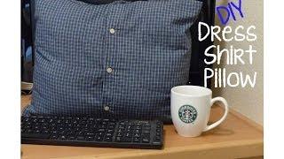 getlinkyoutube.com-DIY No Sew Dress Shirt Pillow