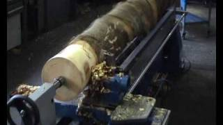 getlinkyoutube.com-GH-Tec 7000 CNC Holzdrehbank / Wood turning lathe / 木材車床