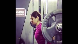 Mandy Takhar Hot Workout in Gym