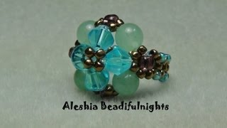 getlinkyoutube.com-Elegant Beaded Ring Tutorial
