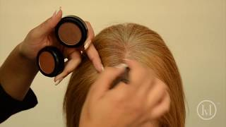Hair Veil How To: Grey Coverage and Root Touch-Up