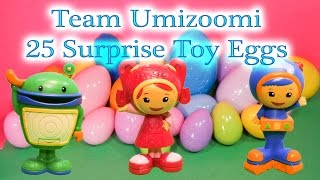 TEAM UMIZOOMI Nickelodeon Team Umizoomi 25 Huge Surprise Eggs + Peppa PIg Funny Surprise Video