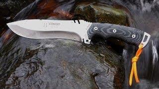 getlinkyoutube.com-Cudeman 299B Boina Verde A Big Knife for Wilderness Survival