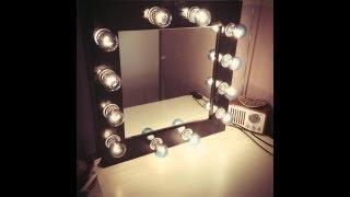 getlinkyoutube.com-DIY MAKEUP MIRROR with Lights