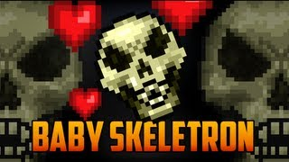 getlinkyoutube.com-Terraria - Dungeon Guardian Pet, Baby Skeletron