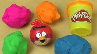 getlinkyoutube.com-Play Doh ANGRY BIRDS Surprise Fun Unboxing