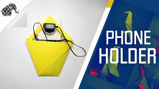 getlinkyoutube.com-Origami - How To Make An Origami Phone Charger Holder