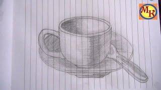 getlinkyoutube.com-cara menggambar cangkir (speed drawing)