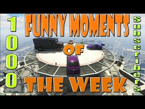 Funny Moments Of The Week (GTA Online Gameplay)(Mike becomes Bukaki,Rooftop Battle)