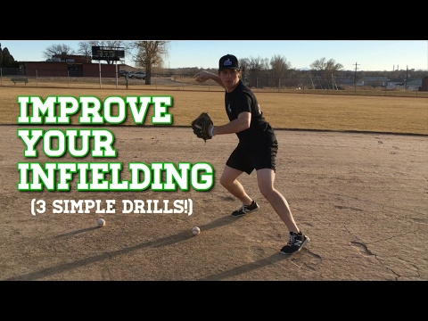 3 SIMPLE BASEBALL FIELDING DRILLS That Will Help You Become A Better Infielder!