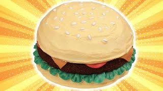 getlinkyoutube.com-HOW TO MAKE A HAMBURGER CAKE - NERDY NUMMIES