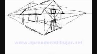 getlinkyoutube.com-Dessin de maison en perspective - Comment Dessiner