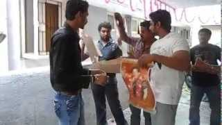 getlinkyoutube.com-Dhruva Sarja Birthday Time Dr Vishnuvardhan 2014 Calender Release in Dhruva Sarja Hand ( LION BOYZ)