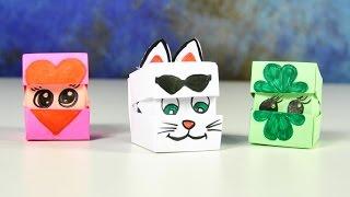 getlinkyoutube.com-Оригами из бумаги | Кубик меняющий лицо | Поделки для детей