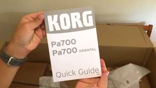 Korg Pa700 Oriental unboxing
