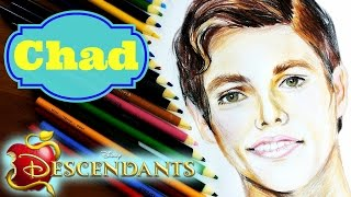 getlinkyoutube.com-DISNEY DESCENDANTS Learn How to Draw CHAD Speed Drawing