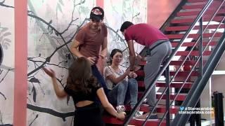 getlinkyoutube.com-سهيلة بن لشهب ومحمد عباس في مطاردة داخل الأكاديمية- 25-10-2015