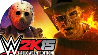 WWE 2K15 / Freddy vs Jason! (CaRtOoNz vs H2O Delirious) (Halloween Ladder Match!)