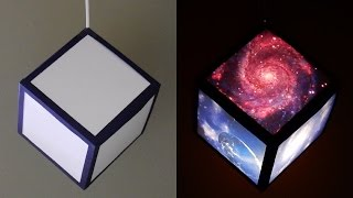 getlinkyoutube.com-DIY pendant lamp/lantern (galaxy cube) - home and room decor - EzyCraft