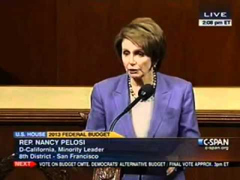Leader Pelosi on House Democratic Budget