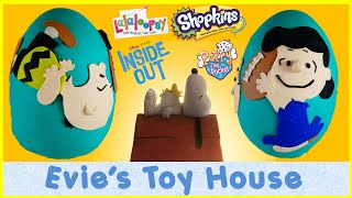 getlinkyoutube.com-THE PEANUTS MOVIE Giant Play-doh egg with Lucy and Charlie Brown Football | Evies Toy House