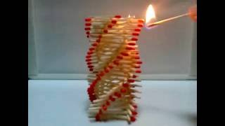 getlinkyoutube.com-Amazing Fire Domino!!! - Artistic chain reaction with matches