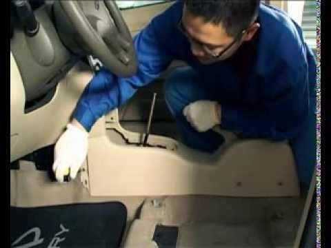 Снятие и установка рычага стояночного тормоза Chery A13/Форза