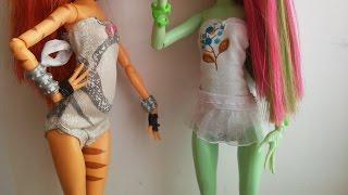 getlinkyoutube.com-Как сделать купальник для куклы Монстер Хай. Мастер класс.