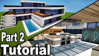 getlinkyoutube.com-Minecraft: Realistic Modern House Tutorial Part 2 / Interior / How to Build A House