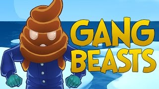 getlinkyoutube.com-THE BIGGEST SH*T HEAD!! - Gang Beasts Funny Moments Gameplay