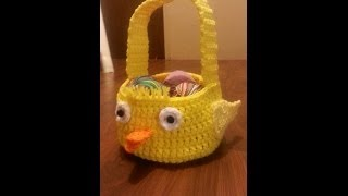 getlinkyoutube.com-CROCHET How To #Crochet Easter chick #Easter #Basket #Tutorial #41