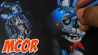 getlinkyoutube.com-Drawing Toy Bonnie and Withered Bonnie (Old Bonnie) - Five Nights At Freddy's 2