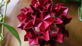 getlinkyoutube.com-Origami ᘠ♥ᘡ Gerardia ᘠ♥ᘡ Kusudama
